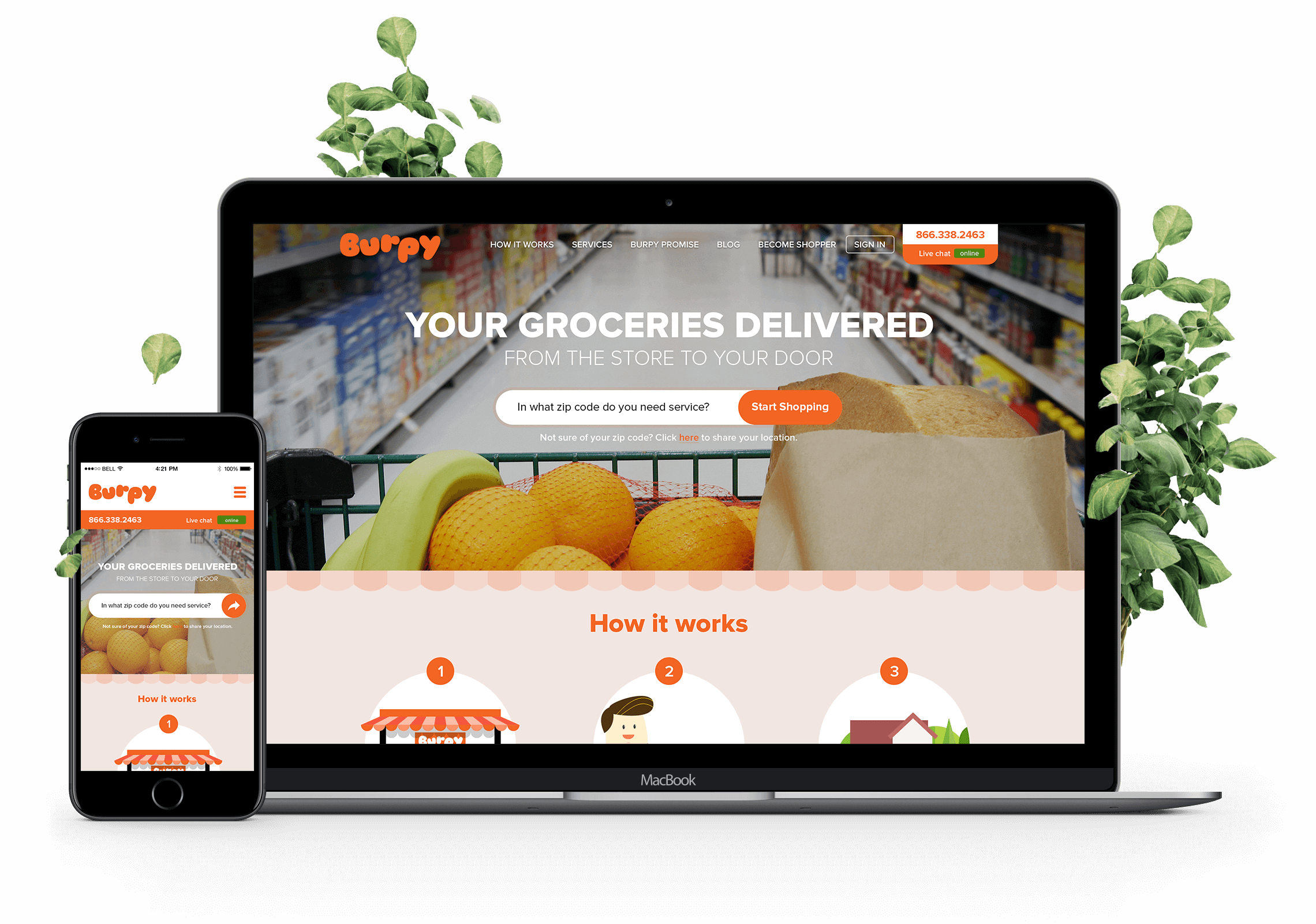 Web and App Design for Online Grocery Shopping