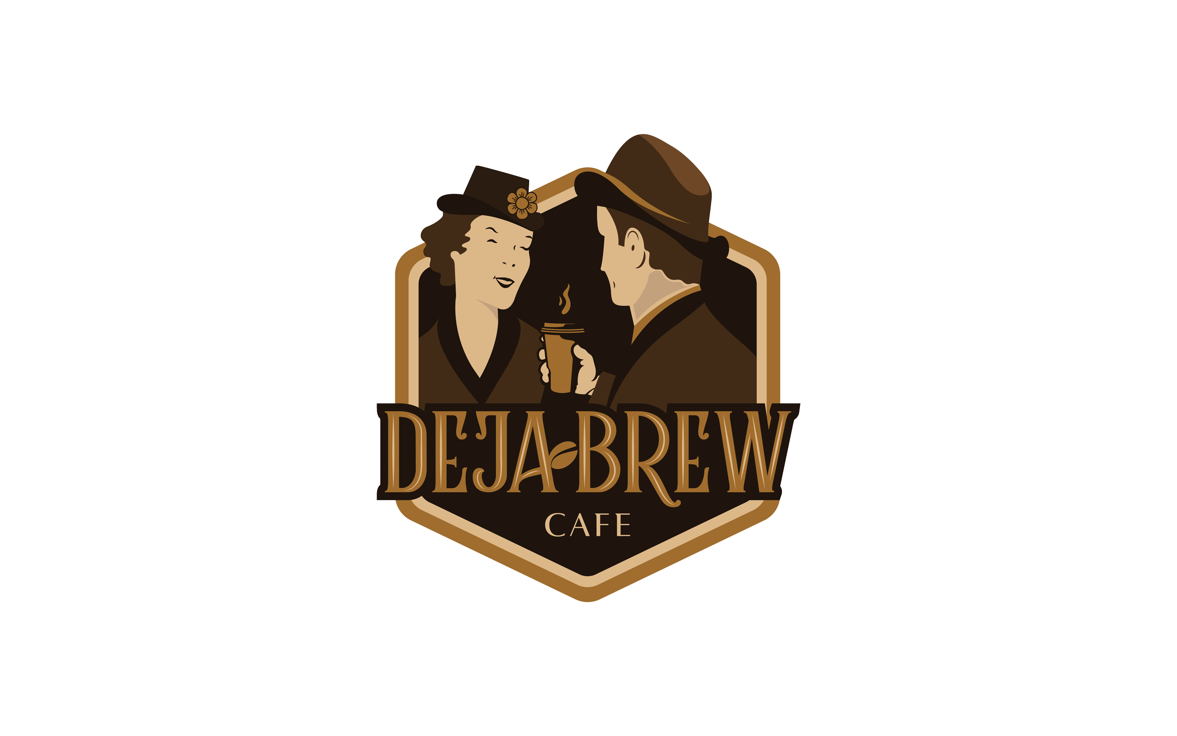 Deja Brew Cafe Logo Design