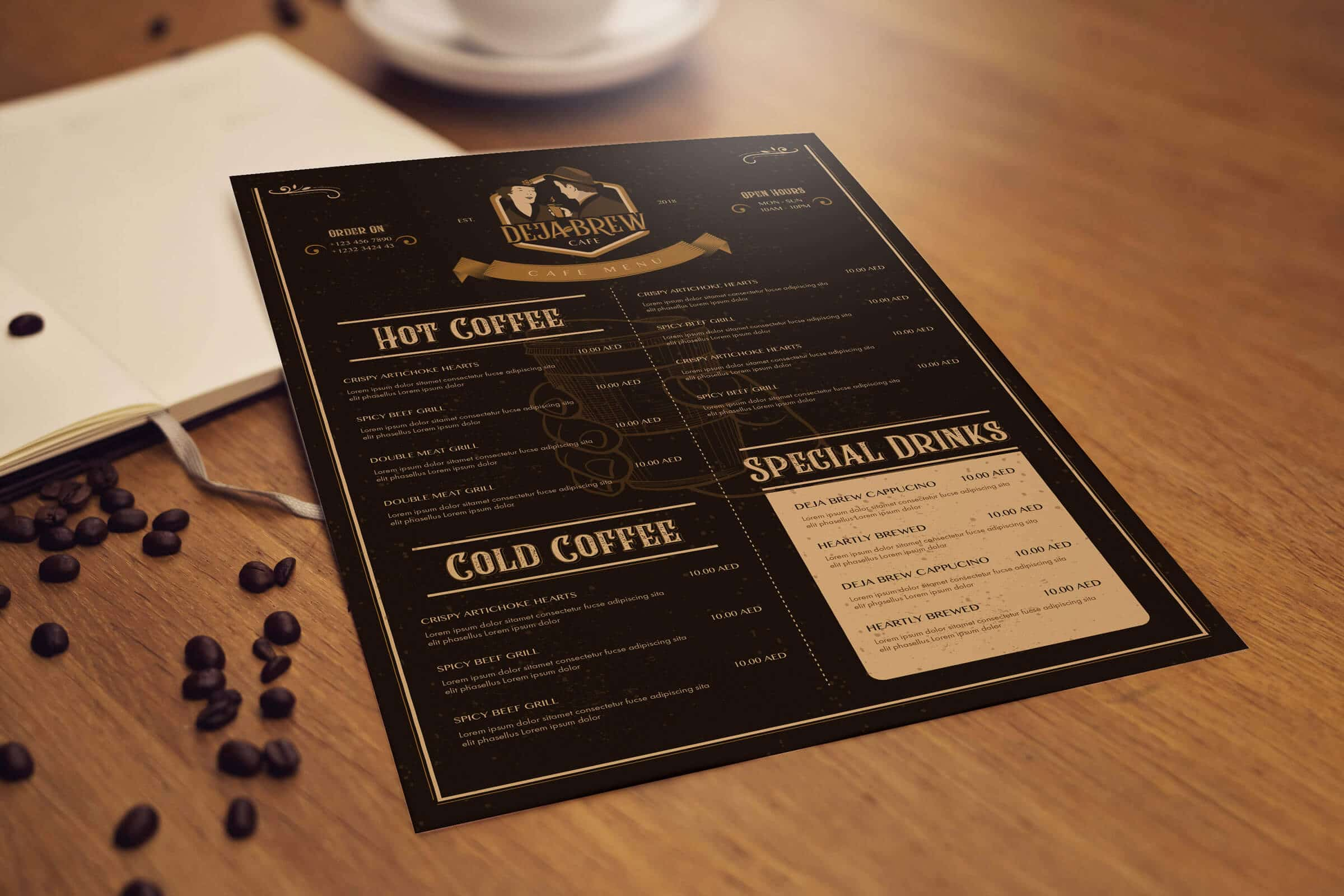 Cafe Menu Design
